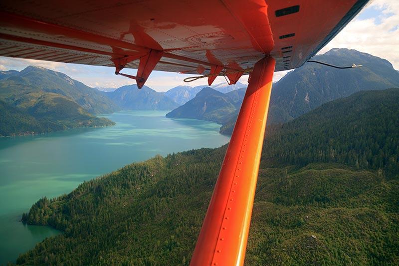 Scenic flight in Squamish, BC