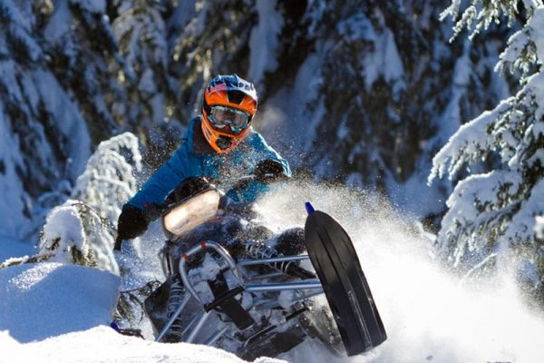 Snowmobiling at Brohm Ridge in Squamish